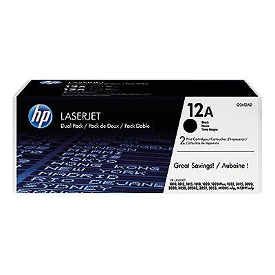 HP Toner Q2612AD 12A 2.000Seiten schwarz 2 St./Pack.