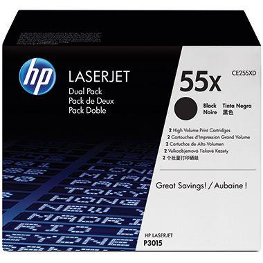 HP Toner CE255XD 55X 12.500Seiten schwarz 2 St./Pack.