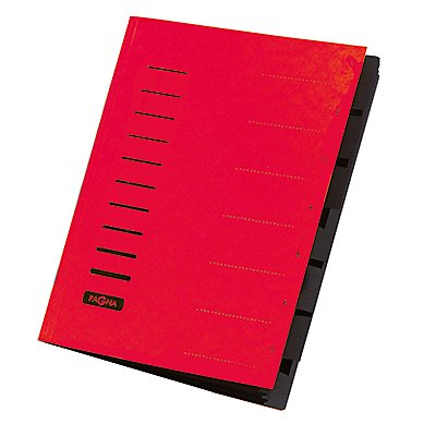 PAGNA Ordnungsmappe DIN A4 7Fächer Pressspan