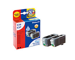 Pelikan Tintenpatrone 4105615 Set wie Canon PGI520BK sw 2 St./Pack.
