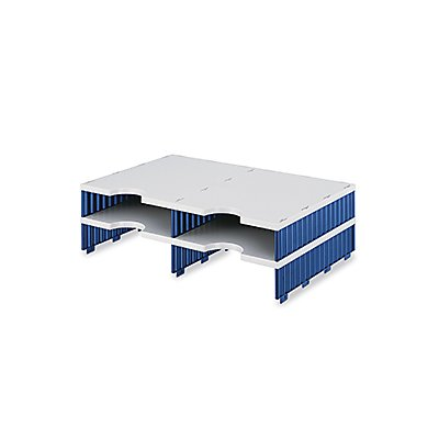 styro Aufbaueinheit styrodoc duo 268-1202.38 4Fächer gr/bl