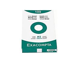 Exacompta Karteikarte DIN A8 Karton weiß 100 St./Pack.