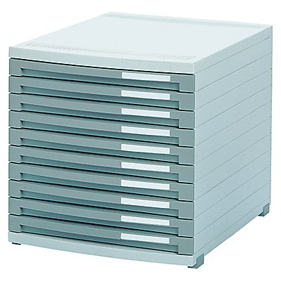 HAN Schubladenbox CONTUR 1510-19 DIN B4 10Schubfächer dunkelgrau