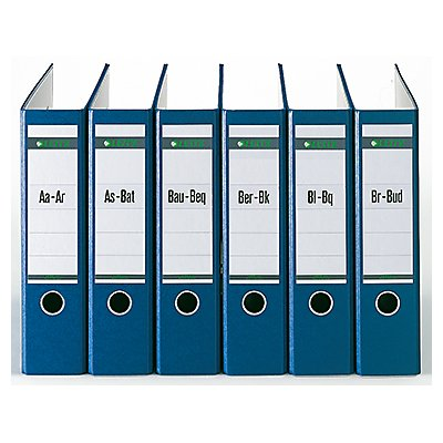 Leitz Registerserie 13080085 DIN A4 A-Z für 8Ordner halbe Höhe grau