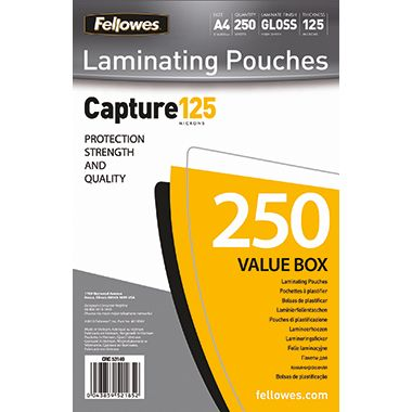 Fellowes Laminierfolie Capture 125 5314903 DIN A4 tr 250 St./Pack.
