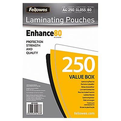Fellowes Laminierfolie Enhance 80 5312903 DIN A4 tr 250 St./Pack.