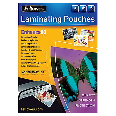 Fellowes Laminierfolie Enhance 80 5452001 DIN A3 tr 100 St./Pack.