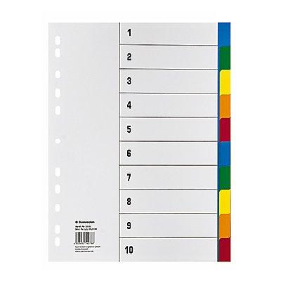 Soennecken Register 1527 DIN A4 blanko volle Höhe PP farbig