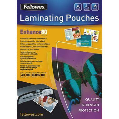 Fellowes Laminierfolie Enhance 80 53023 DIN A3 tr 100 St./Pack.