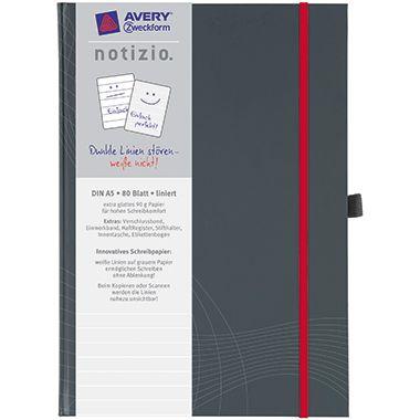 Avery Zweckform Notizbuch  DIN A5  80Bl. grau