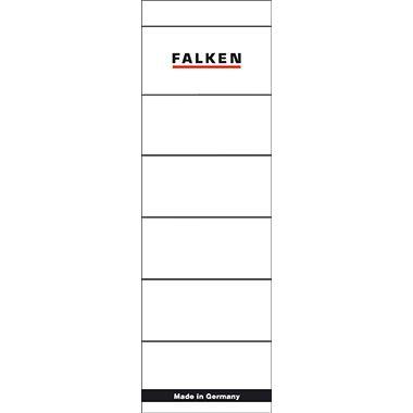 Falken Ordneretikett 80037047 breit/kurz sk weiß 10 St./Pack.