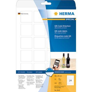 HERMA Etikett 9642 40x40mm weiß 600 St./Pack.