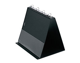 Veloflex Tischflipchart 4101080 DIN A4 quer 4Ringe 10Hüllen schwarz