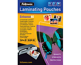 Fellowes Laminierfolie Enhance 80 5440602 108x159mm tr 25 St./Pack.