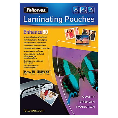 Fellowes Laminierfolie Enhance 80 5440602 108x159mm tr 25 St./Pack.