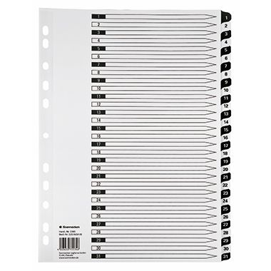 Soennecken Register  DIN A4 1-5 volle Höhe Karton