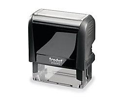 trodat Textstempel PRINTY 4.0 4913 58x22mm 6zeilig Kissen schwarz