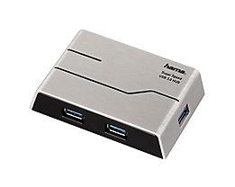 Hama USB-Hub 00039879 USB 3.0 1:4 mit Netzteil schwarz