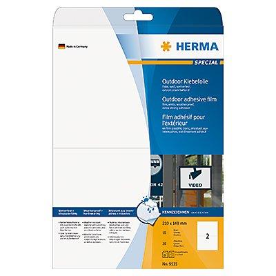 HERMA Folienetikett 9535 210x148mm weiß 20 St./Pack.