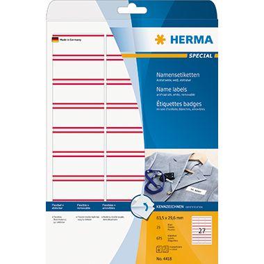 HERMA Namensetikett 63,5x29,6mm 675 St./Pack.