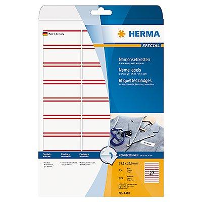 HERMA Namensetikett 4411 63,5x29,6mm weiß 675 St./Pack.