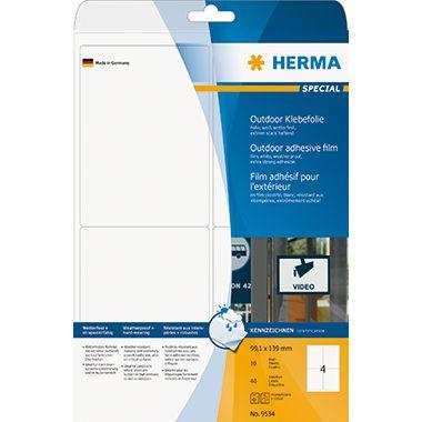HERMA Outdoor Etikett Special 9534 99,1x139mm weiß 40 St./Pack.