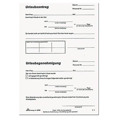 RNK Urlaubsantrag 2915 DIN A5 50Blatt