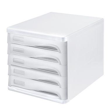 helit Schubladenbox economy H6129450 DIN A4-C4 l.gr/gn.tr