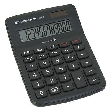 Soennecken Tischrechner CS900 8662 schwarz