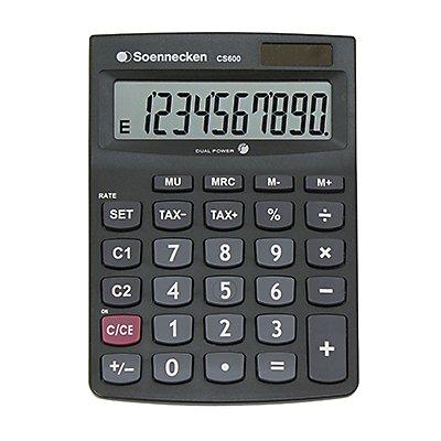 Soennecken Taschenrechner CS600 8661 schwarz