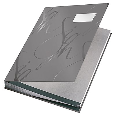 Leitz Unterschriftsmappe Design 57450085 DIN A4 18Fächer grau