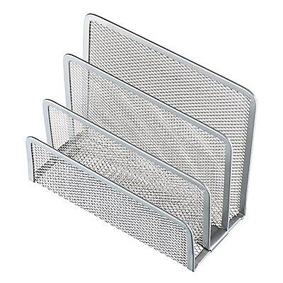 helit Briefständer Mesh  14x7x9,7cm 3Fächer Metall