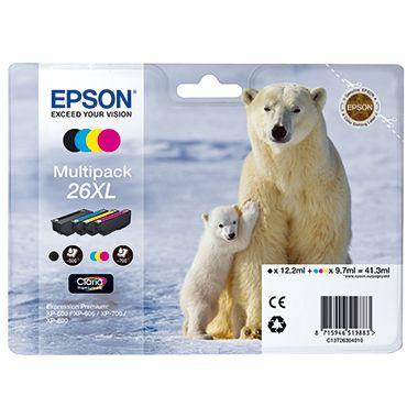 Epson Tintenpatrone C13T26364010 sw/c/m/y 4 St./Pack.