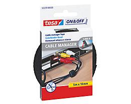 tesa Klettband On & Off 55239-00000 1x500cm schwarz