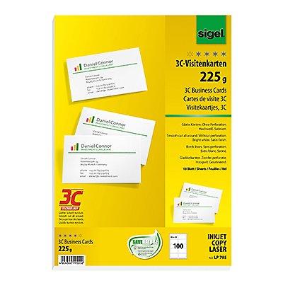 Sigel Visitenkarte LP795 DIN A4 85x55mm 225g ws 100 St./Pack