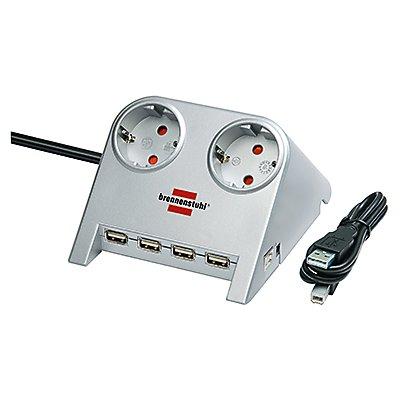 brennenstuhl Steckdose Desktop- Power-Plus 1153540122 2fach USB si