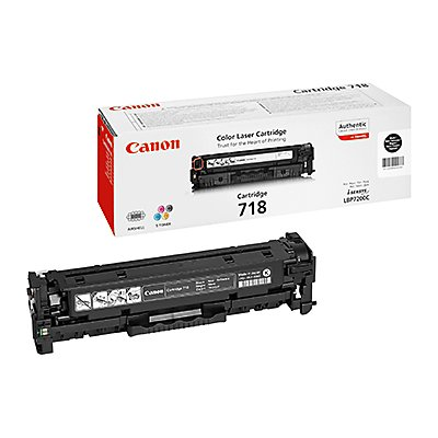 Canon Toner 718BK 2662B002 3.400Seiten schwarz