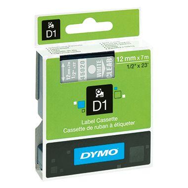 DYMO Schriftbandkassette D1  12mmx7m ws auf