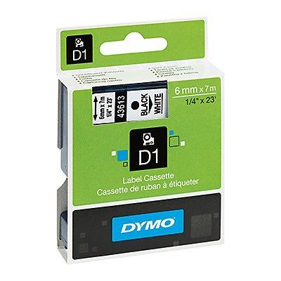DYMO Schriftbandkassette D1 6mmx7m auf