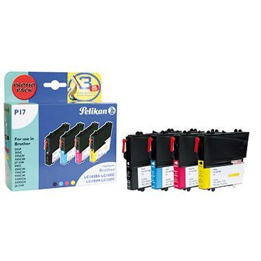 Pelikan Tintenpatrone 4107862 wie Brother LC1100 sw/c/m/y 4 St./Pack.