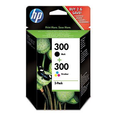 HP Tintenpatrone CN637EE Nr.300 sw/c/m/y 2 St./Pack.