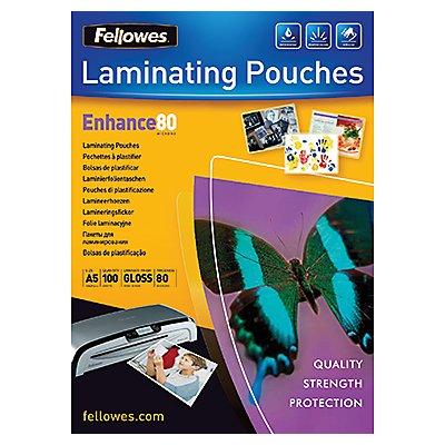 Fellowes Laminierfolien Enhance 80 53060 DIN A5 tr 100 St./Pack.