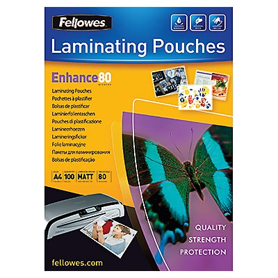 Fellowes Laminierfolie Enhance 80 5452101 DIN A4 tr 100 St./Pack.
