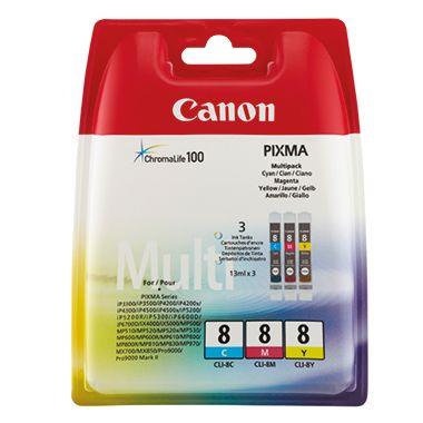 Canon Tintenpatrone CLI8 0621B029 c/m/y 3 St./Pack.