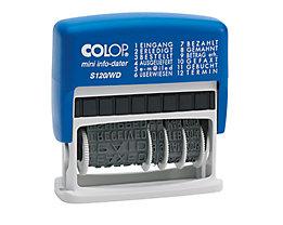 COLOP Datumstempel mini info-dater S120/WD 1453100200 blau/grau