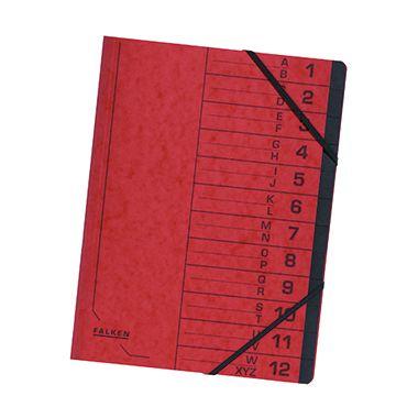 Falken Ordnungsmappe DIN A4 12Fächer Karton
