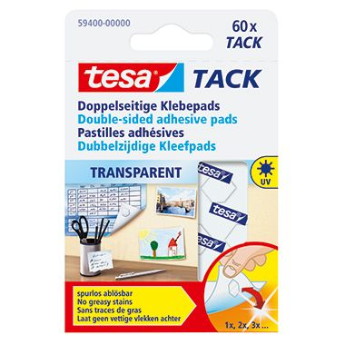tesa Klebepad Tack  10x10mm transparent  St./Pack