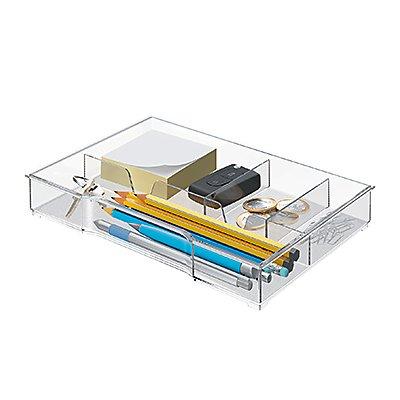 Leitz Schubladeneinsatz 52150002 16,7x24,7x3,5cm 4Fächer PS glasklar