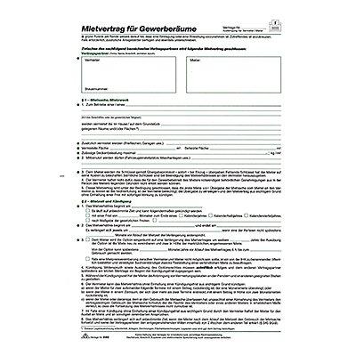 RNK Mietvertrag 598 Gewerberaum DIN A4 5Blatt
