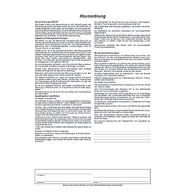 RNK Mietvertrag 523 Universal DIN A4 3x2Blatt